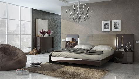 modern italian bedroom set made in spain wood luxury contemporary furniture set with