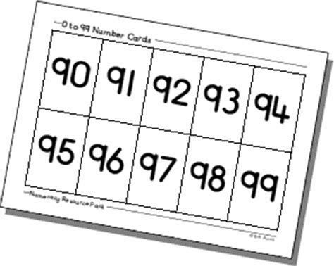 printable 3 digit number cards 0 to 99 and 1 to 100 number cards
