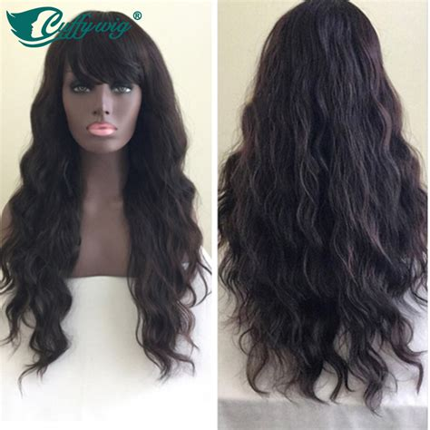 and wavy human hair wavy human hair wigs with bangs realistic lace front wig
