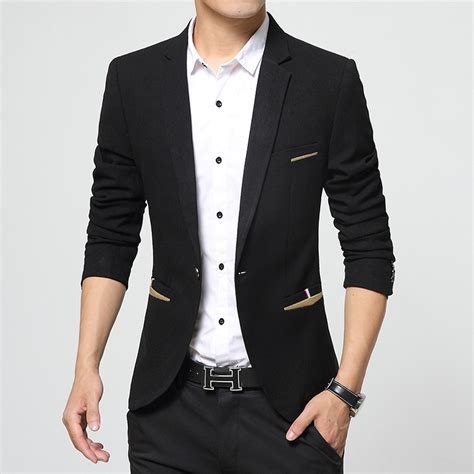 Blazer Pria Jas Pria Stylist Hitam aliexpress buy 2016 new arrival slim fit suit