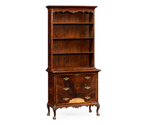 108 inch bookcase mahogany bookcase on chest