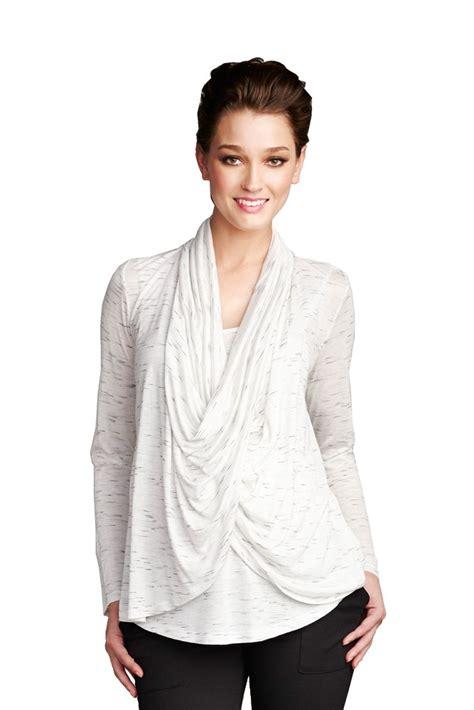 breastfeeding drape chrissy drape maternity nursing top in white slub by