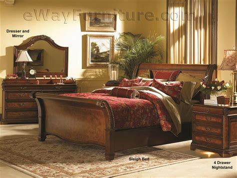 sleigh bedroom furniture sets vineyard sleigh bedroom set