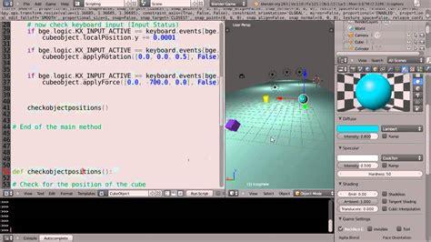 tutorial python blender blender 2 6 tutorial python game engine programming