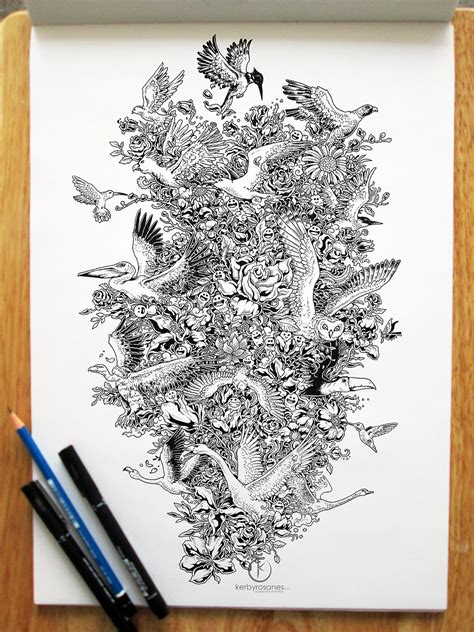 pen doodle drawings beautifully detailed pen doodles by artist kerby rosanes