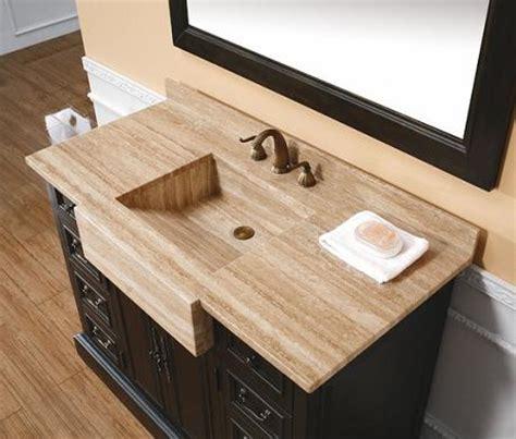 Integrated stone sinks bathroom vanities with a stylish twist