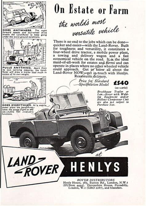 1950 Land Rover Vintage Magazine Ad Retrofair