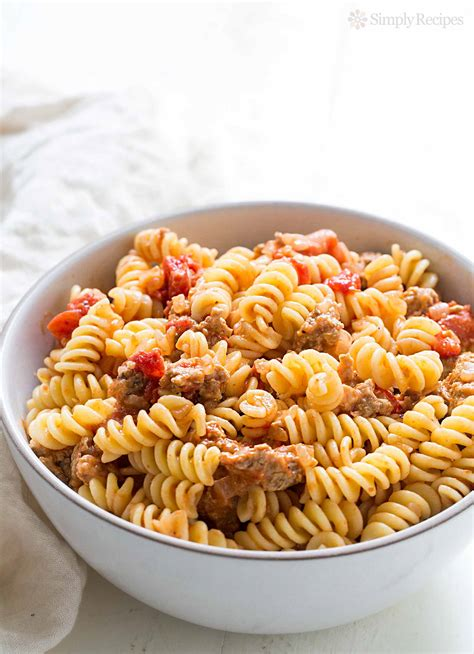 pasta sausage pasta with turkey sausage and smoked mozzarella recipe