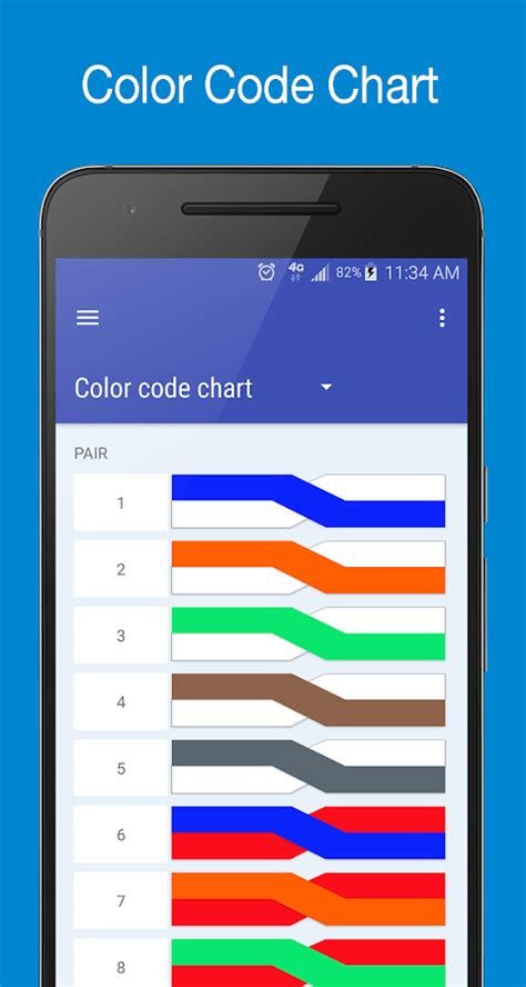 phone color code copperpairs telecom color code translator android apps