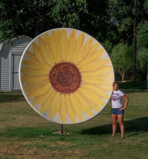 backyard satellite dish paint that old satellite dish satellite dish craft