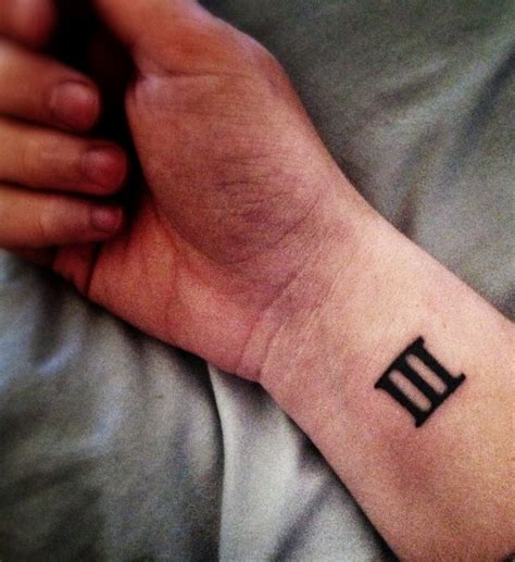roman numeral tattoo wrist numeral wrist numeral 3