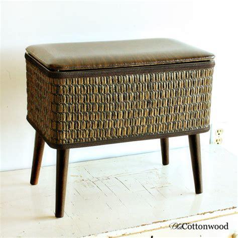 vintage sewing seat sewing stool sewing basket sewing
