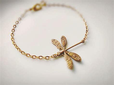 Handmade Charm Bracelets - gold dragonfly bracelet dragonfly charm bracelet boho