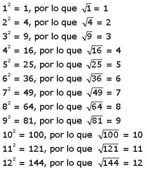 raiz cuadrada de 13 blog de aula de 6a matem 193 ticas ra 205 ces cuadradas exactas