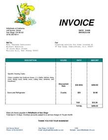 cleaning invoice template cleaning bill invoice services invoice ideas for the