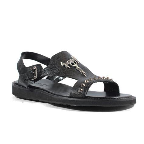 italian mens sandals cesare paciotti italian mens shoes hippie black leather