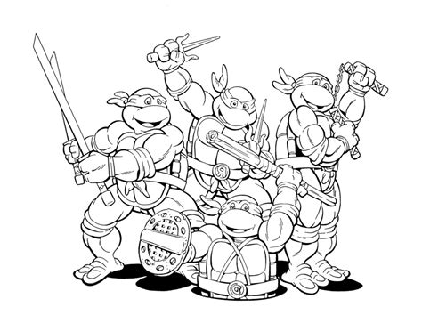 coloring pages tmnt mutant turtles colors az coloring pages