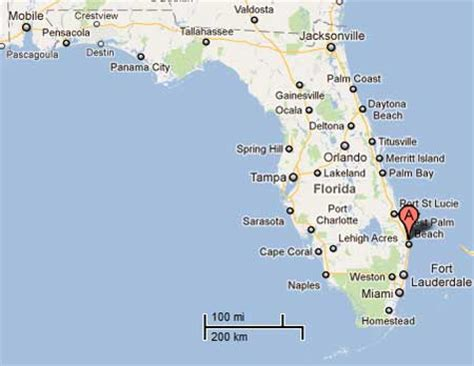florida west coast map west coast florida beaches map