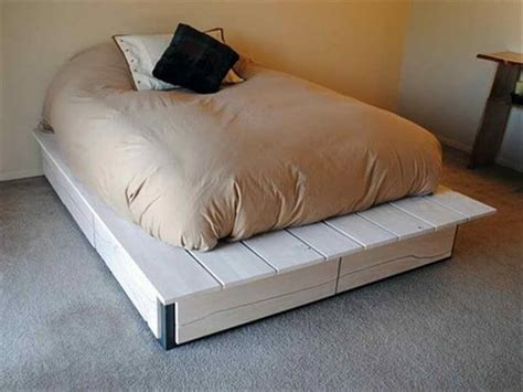 diy simple pallet bed frame 42 diy recycled pallet bed frame designs