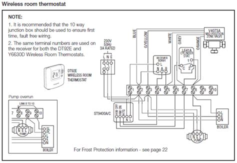 central heating wiring diagram y plan central wiring