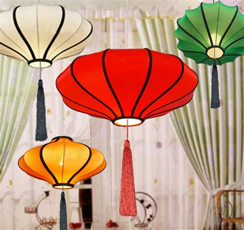 Online buy wholesale fabric chinese lanterns from china fabric chinese