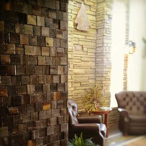 reclaimed wood wall tiles modern wall decorating ideas