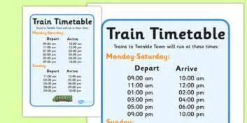 printable bus tickets for role play train station timetables train station display banner
