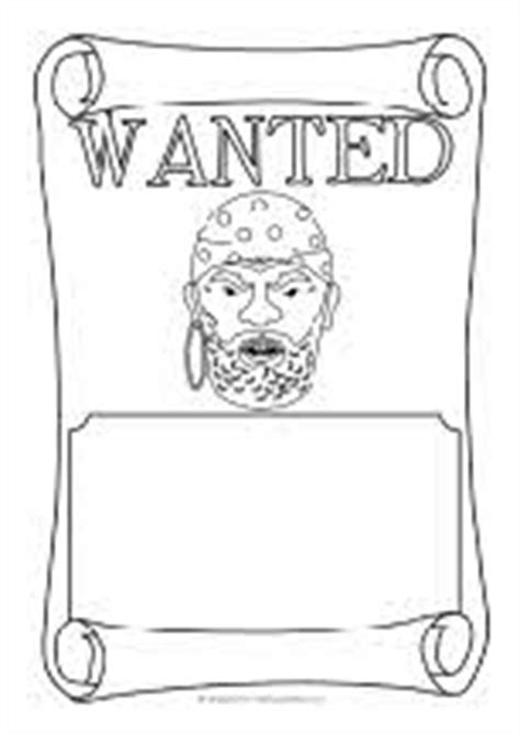 pirate wanted poster writing frames black and white