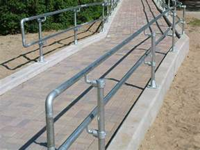 handrail height ada galvanized steel pipe railing made with kee kl 174 pipe