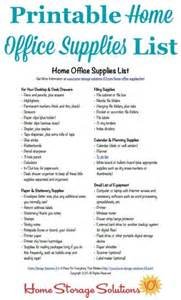 Free printable home office supplies list to make sure you re stocked
