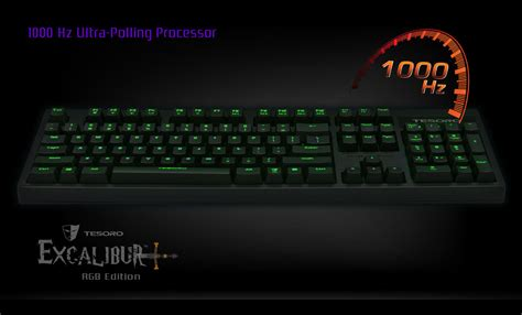 Dijamin Sades Excalibur Rgb Macro Mechanical Gaming Keyboard excalibur rgb edition mechanical gaming keyboard tesoro gaming