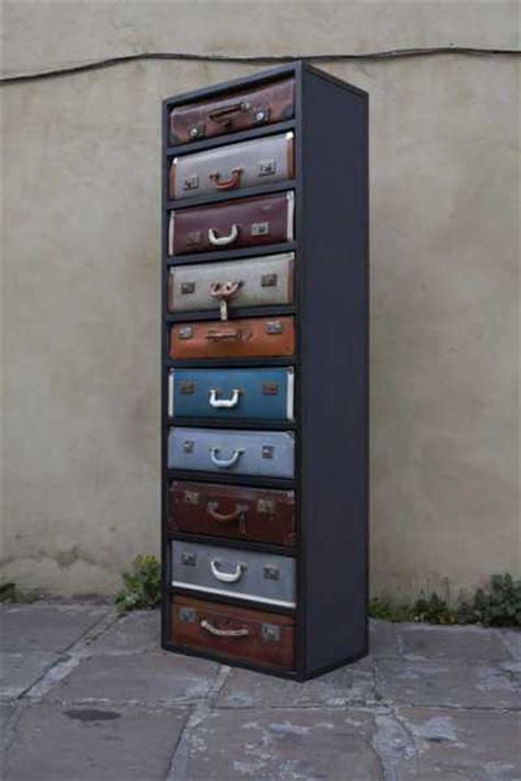 suitcase drawers uk recycling old suitcases for vintage furniture chests with