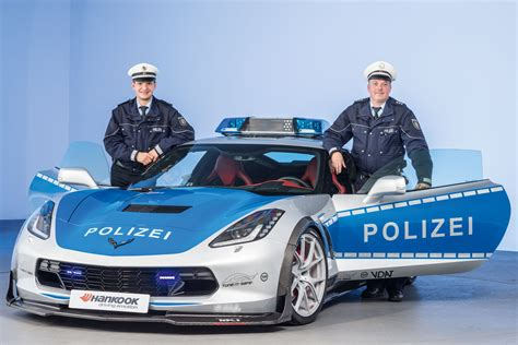 police corvette corvette police car c7 stingray for german police unveiled