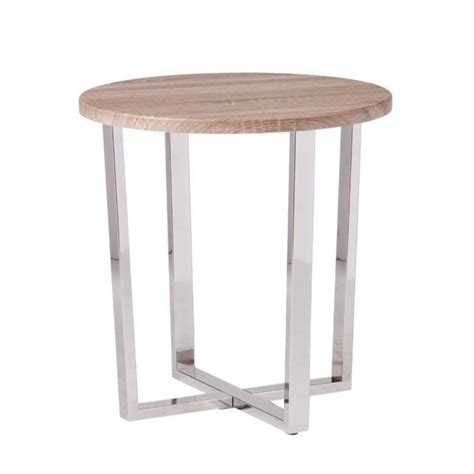 Gray Table L by Southern Enterprises Elements End Table In