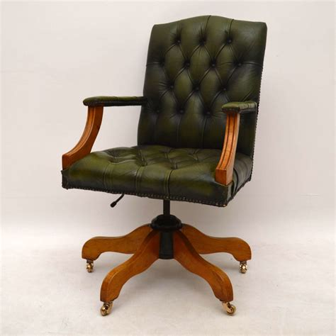 antique swivel desk chair antique georgian style leather swivel desk chair