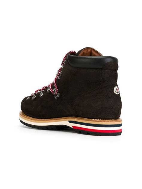 mens moncler boots lyst moncler peak hiking boots in brown for