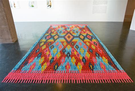 colorful carpet colorful carpet made from thousands of digital watches by