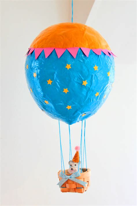 Paper Mache Balloon Crafts - how to make a paper mache air balloon hobbycraft