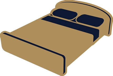 bed clipart bed sleeping room 183 free vector graphic on pixabay