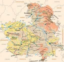 La Mancha Castile La Mancha Map Size