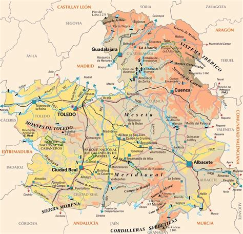 castilla la mancha 8499357733 mapa de la mancha my blog