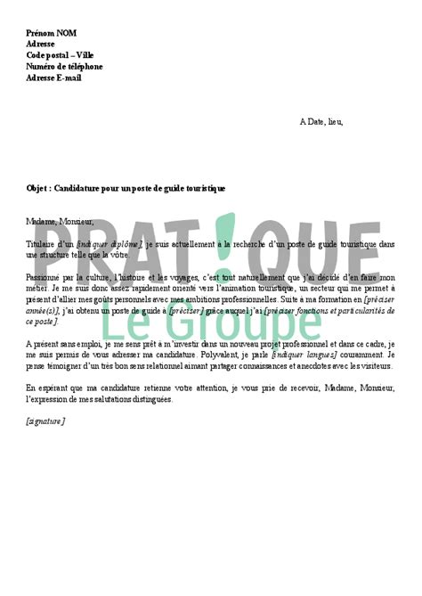Lettre De Motivation Stage Office Tourisme Lettre Motivation Guide Animateur Ccmr