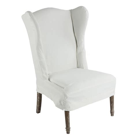 Eli French Country Wing Back Dining Side Chair Slip Cover Wing Dining Chairs