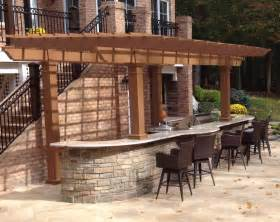 Trex Pergola Kit by Painted Trex Pergola Kit Over Outdoor Kitchen Maryland