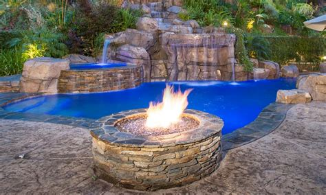 pool fire pit greecian pools bakersfield ca fire features