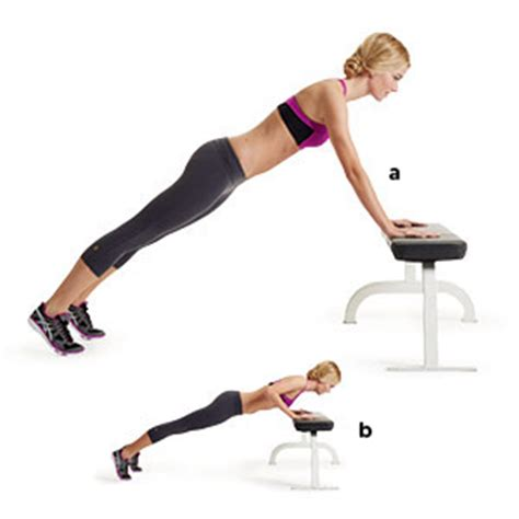 push ups on bench incline pushup women s health