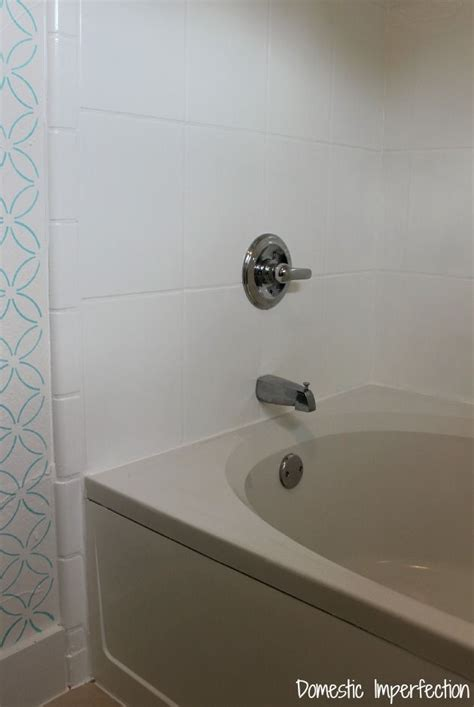 can you paint an acrylic bathtub how to refinish outdated tile yes i painted my shower