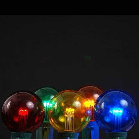 multi colored led lights 5 pack multi colored led g50 globe bulbs novelty lights