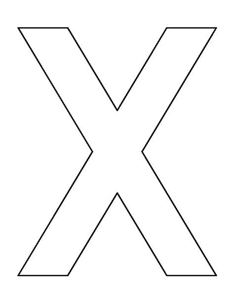letter x pattern use the printable outline for crafts