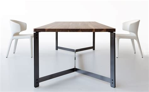wood table with metal chairs contemporary dining table in wood and metal db11 by